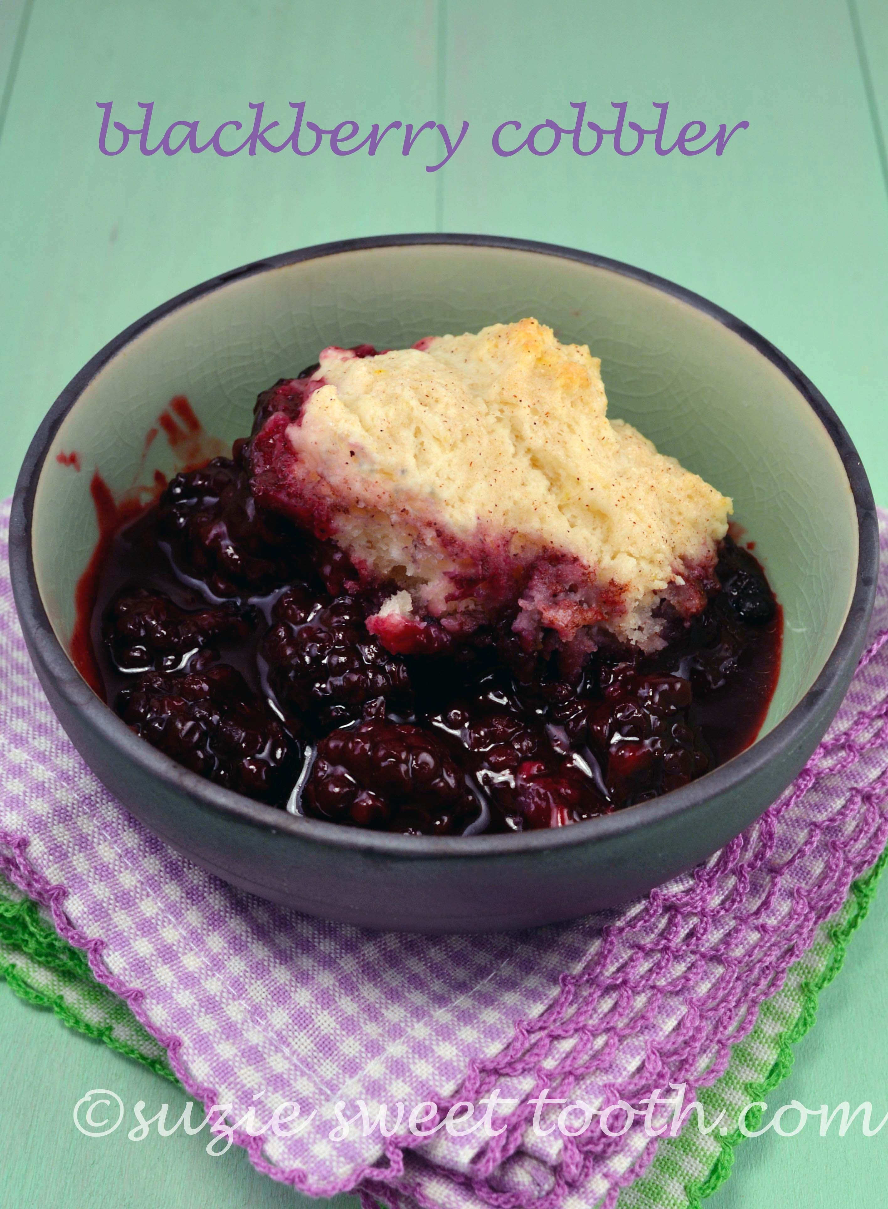 Blackberry Cobbler | suzie sweet tooth