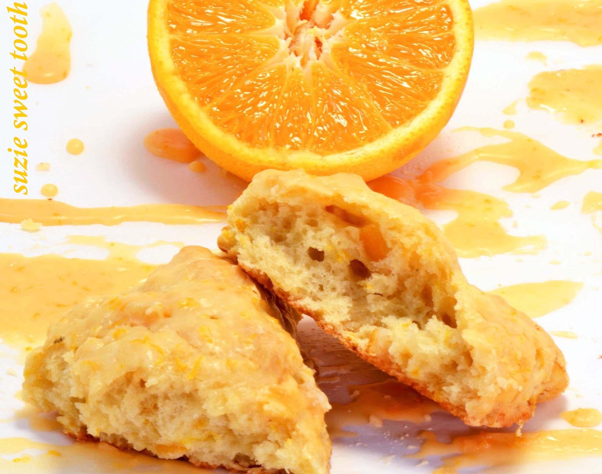 Orange scones with Candied Orange Peel | suzie sweet tooth
