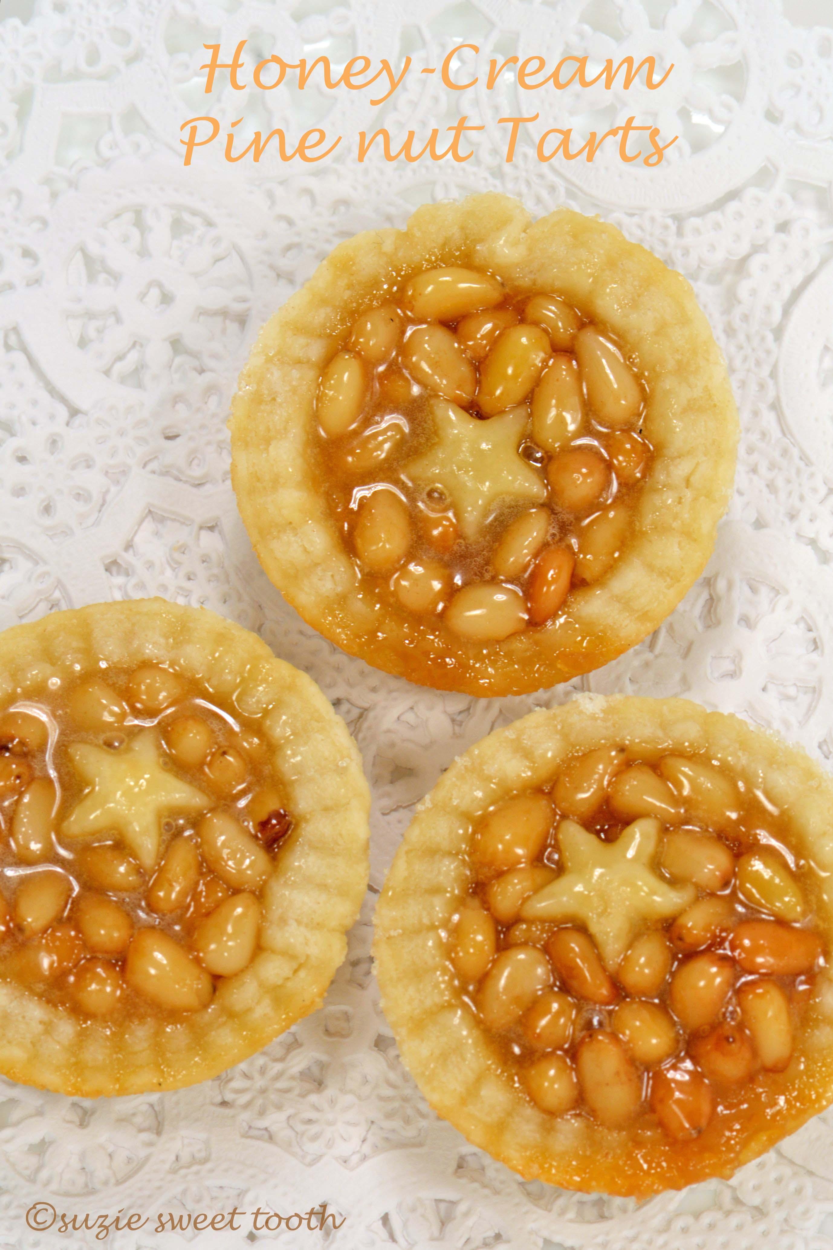 Honey Pine Nut Tarts | suzie sweet tooth