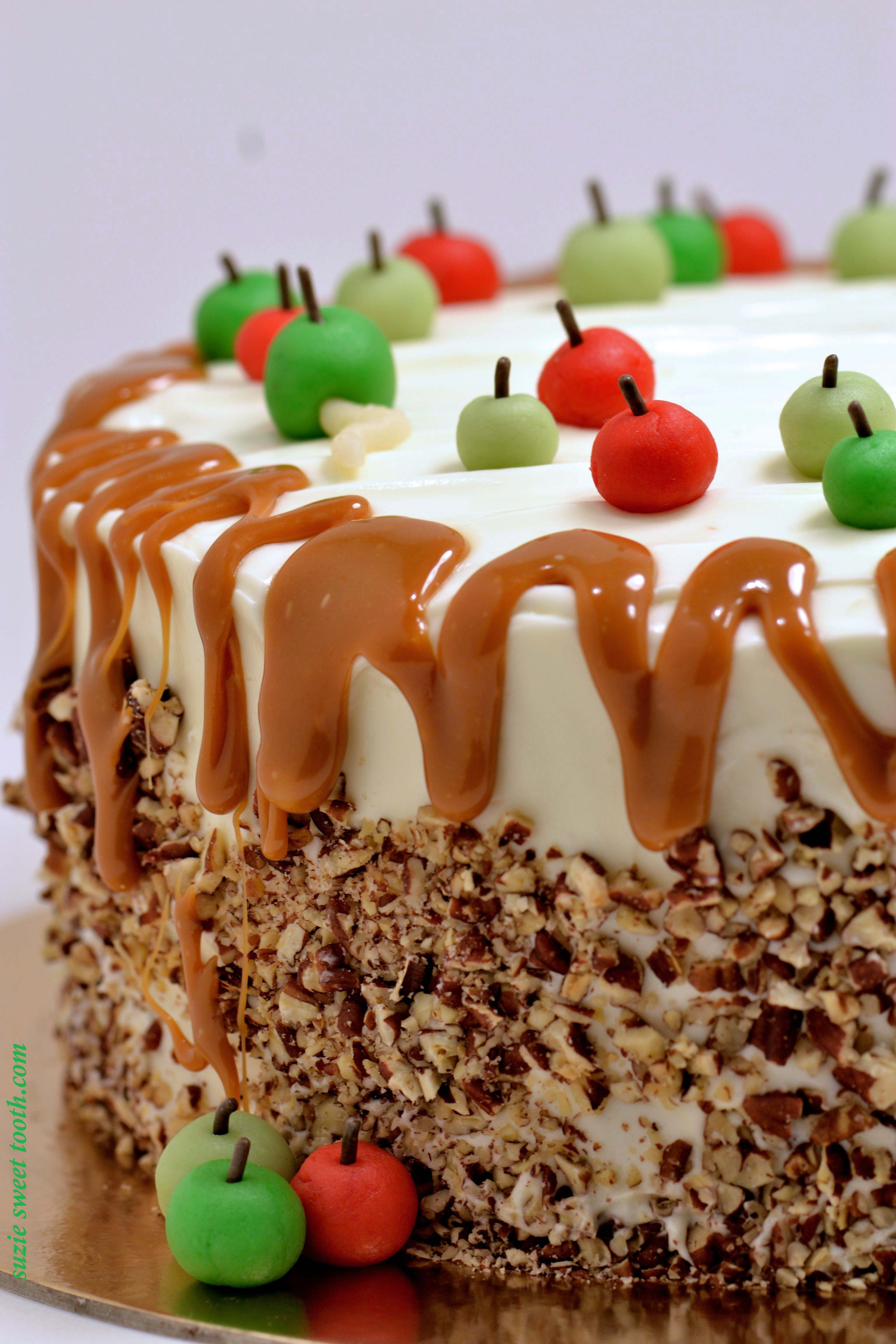 Caramel Apple Layer Cake W/ Cream Cheese Frosting Recipe ...