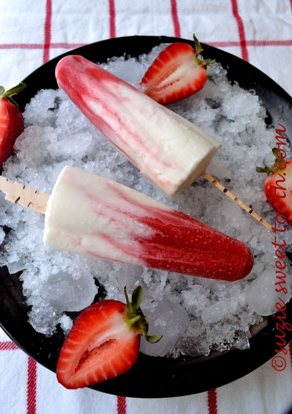 Lava Flow Ice Pops