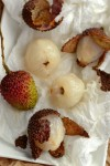 Lychees on plate