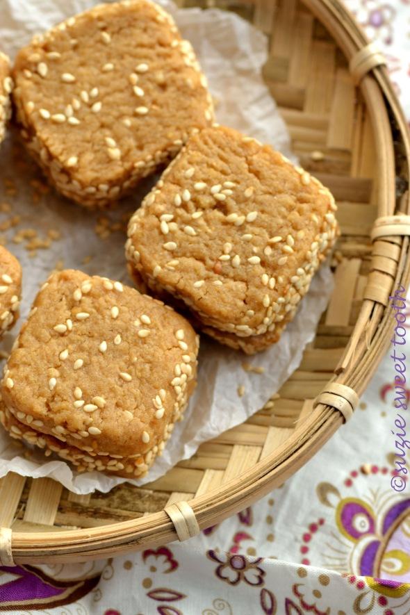 Peanut Butter Sesame Cookies 2