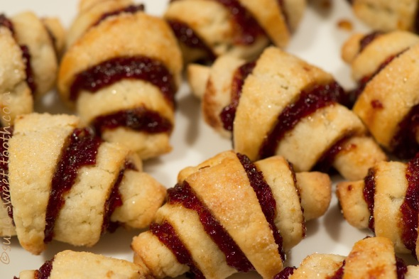 Cherry Chocolate Rugelach | suzie sweet tooth