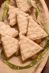 gingerbread tree cookies ontray