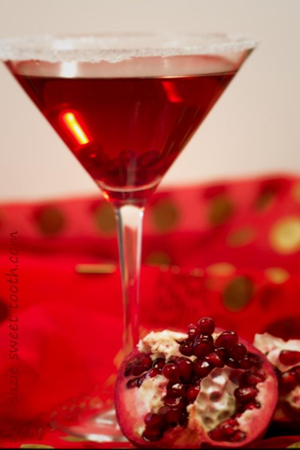 Sparkling Pom Martini