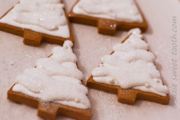 White Christmas Gingerbread Trees