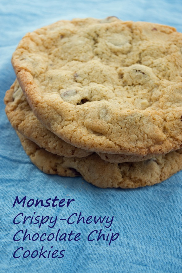 monster crispy chewy choco chip cookies