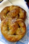 pretzels buttered andsalted