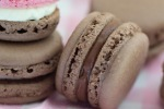 chocolate with neapolitanmacs