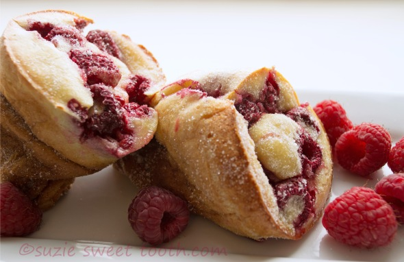 Sugared Raspberry Popovers | suzie sweet tooth