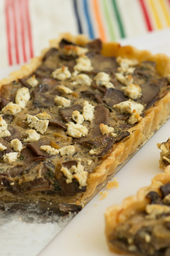 mushroom tart with goat cheese