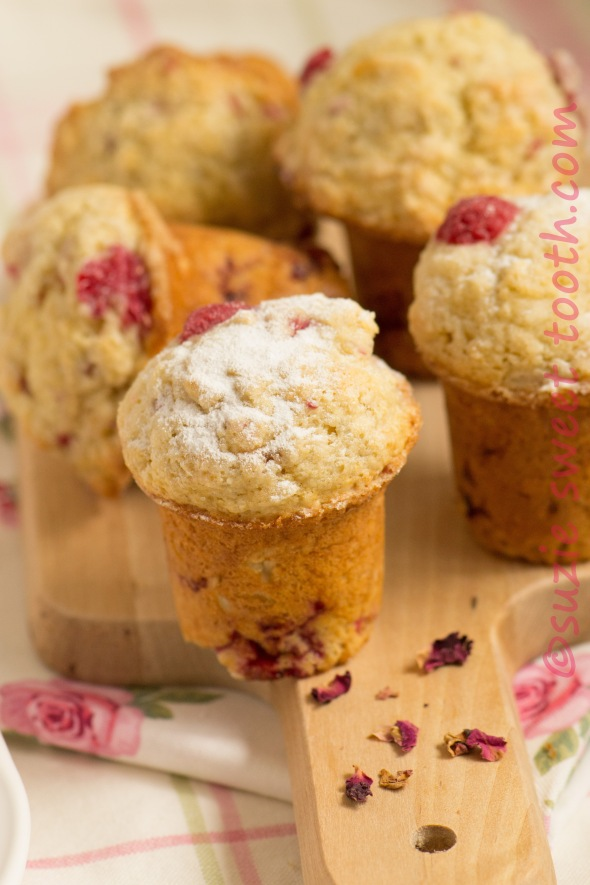 raspberry and rose muffins 2