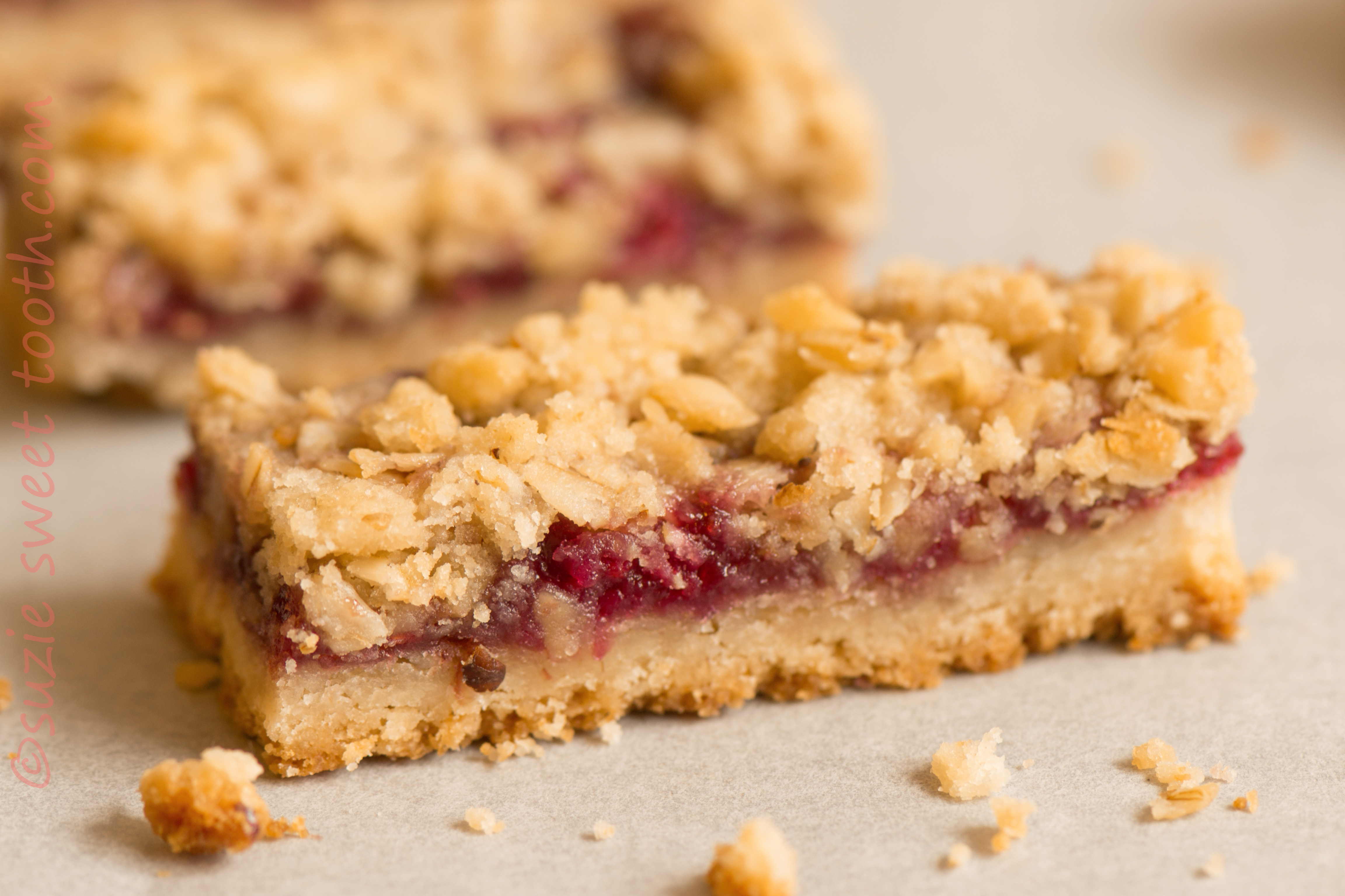 Raspberry Streusel Bars | suzie sweet tooth