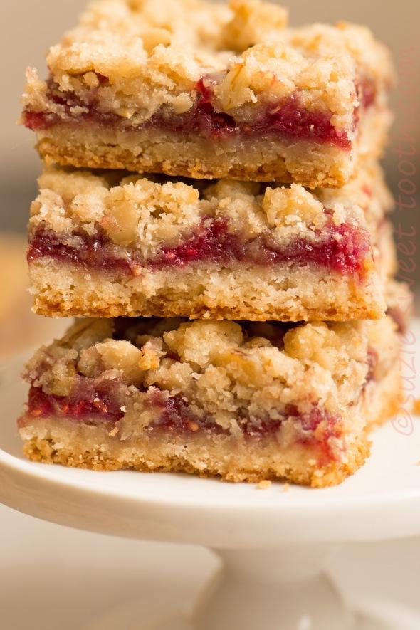 Raspberry Streusel Bars Cooks Illustrated | suzie sweet tooth