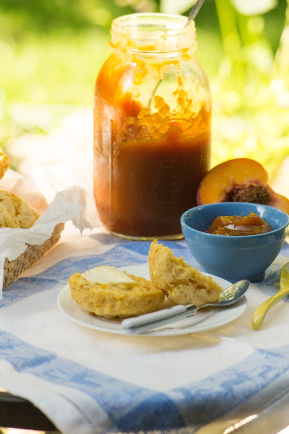 peach butter with sweet potato biscuits