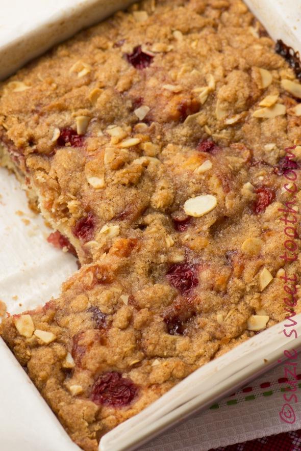 cherry streusel cake