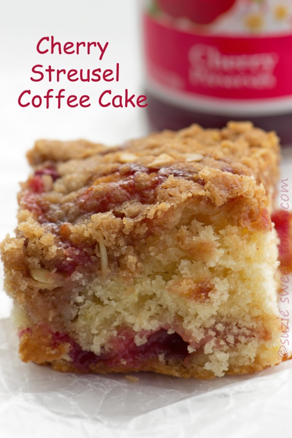 cherry streusel coffee cake