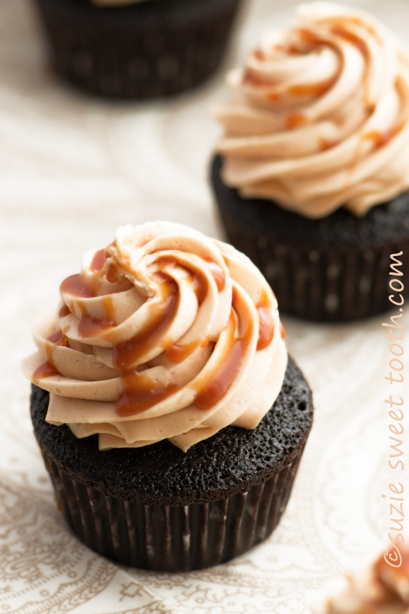chocolate and salted caramel cupcake