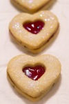 strawberry cutout cookies