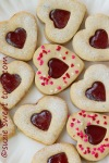 Strawberry Linzer Hearts