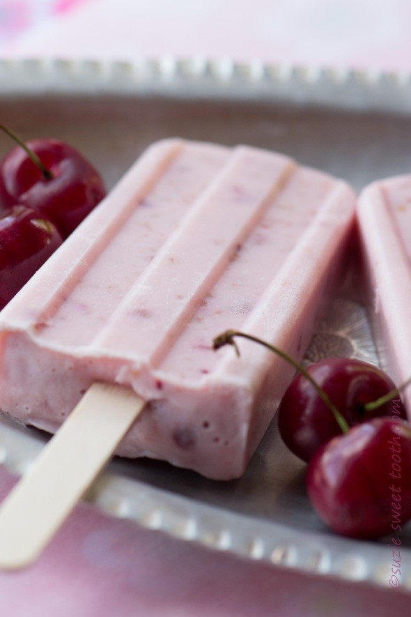 Sweet Cherry Yogurt Pops