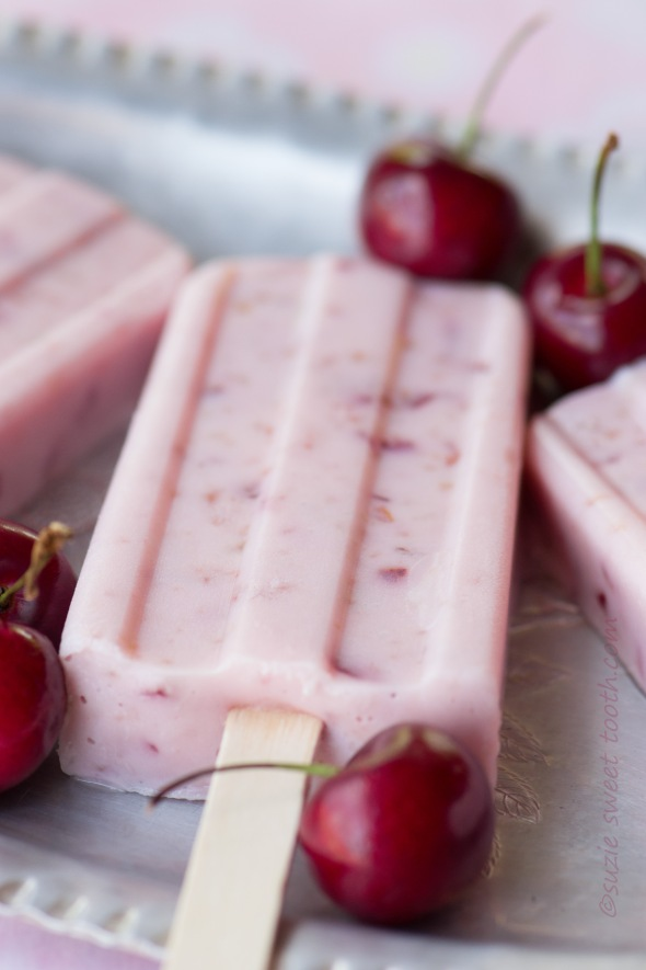 Vanilla Cherry Yogurt Pops