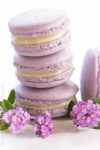 lavender macarons filled with lavenderganache