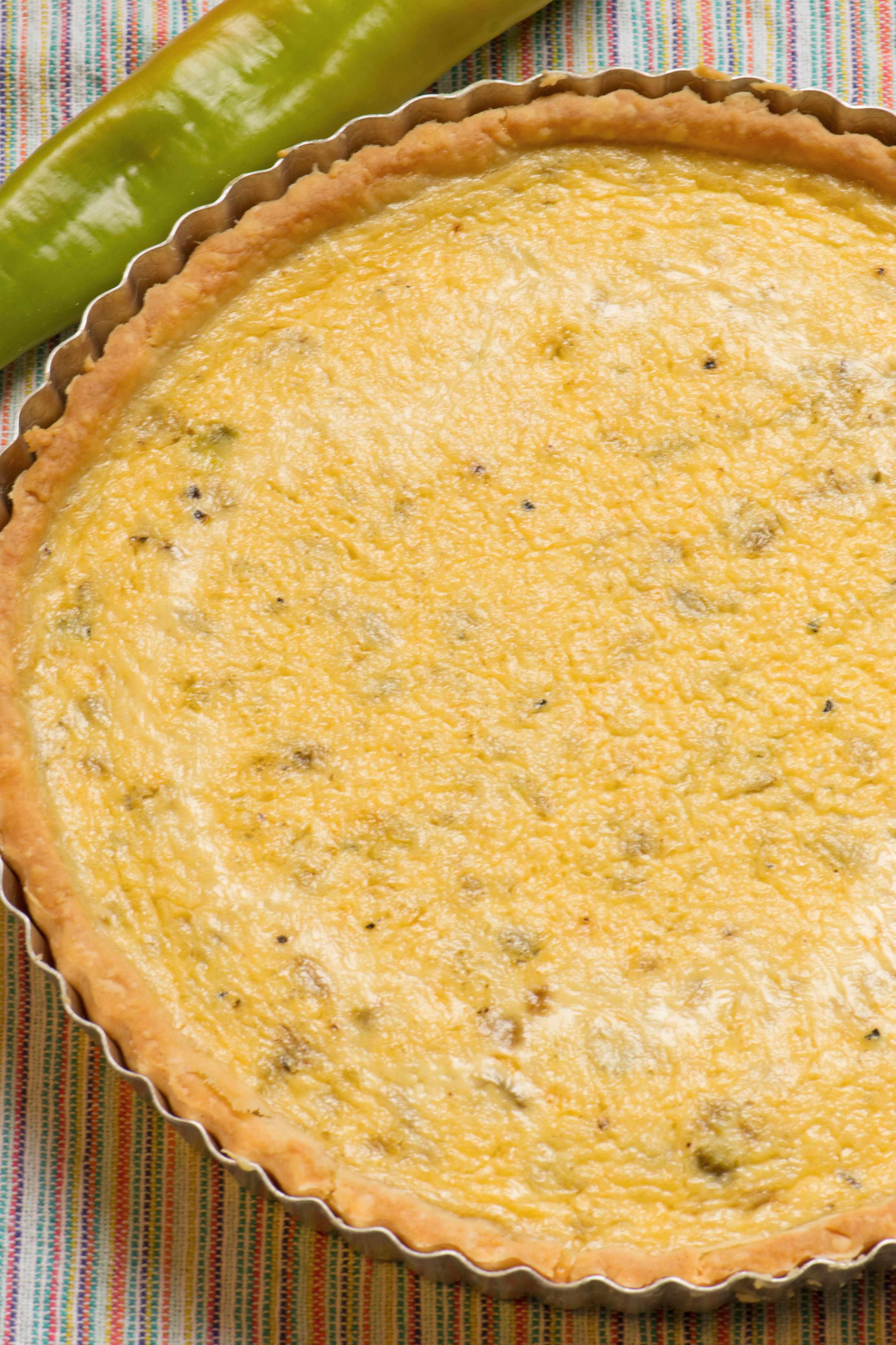 green chili cheese quiche