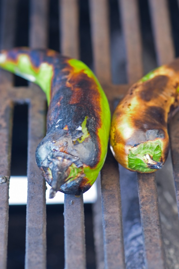 roasting hatch chilis