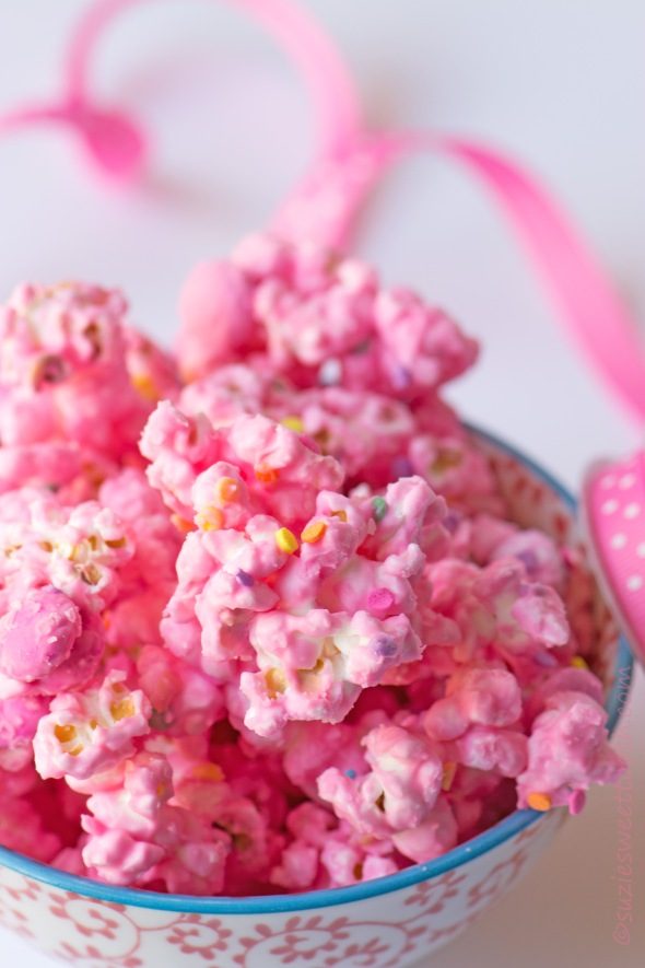 Candied Popcorn for Breast Cancer Month