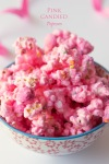 Pink Candied Popcorn for Breast Cancer AwarenessMonth