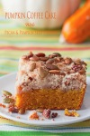 Pumpkin Coffee Cake with Pecan and Pumpkin SeedCrumble