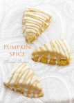 pumpkin spice scones with classic glaze and spiced glaze