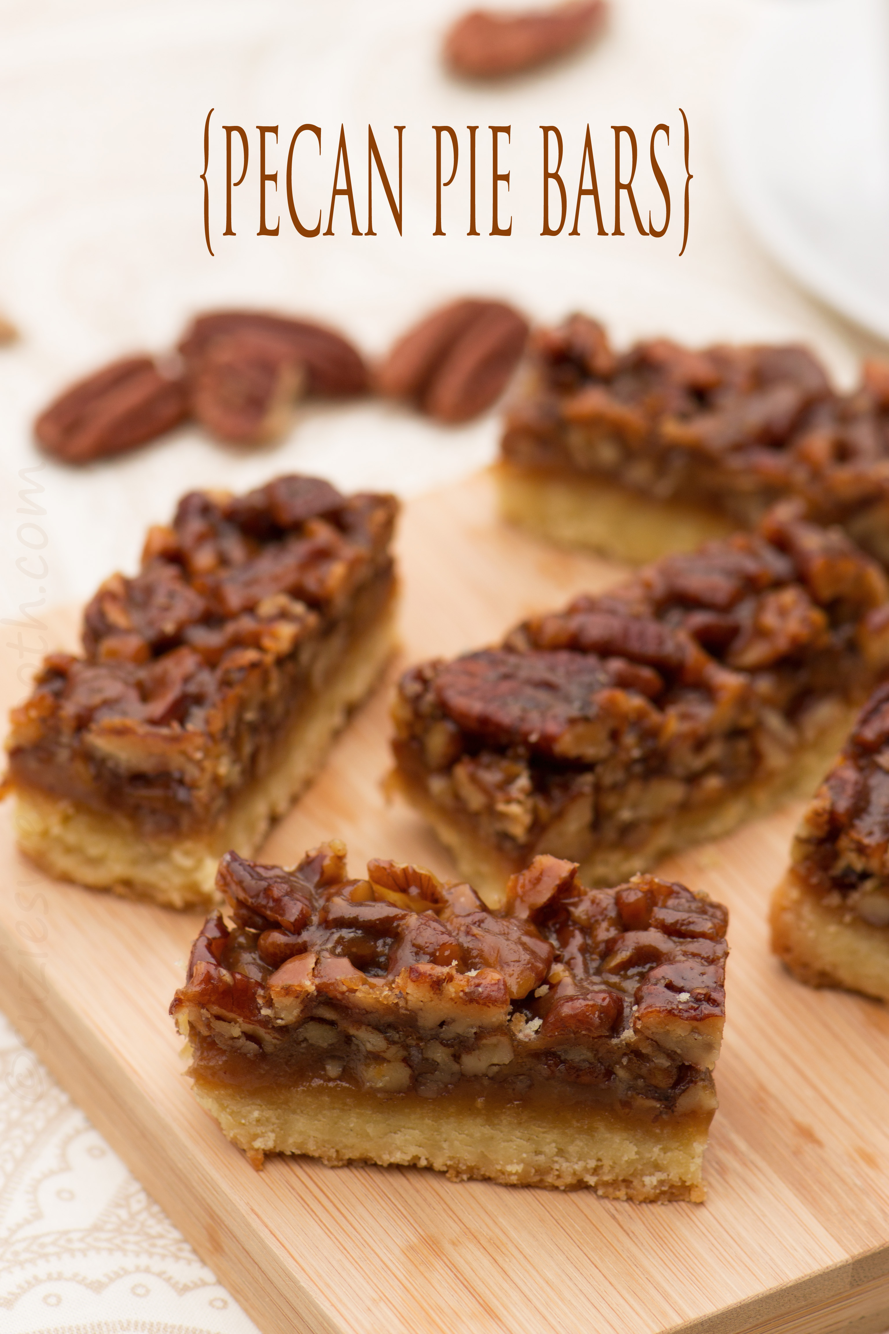 Pecan Pie Bars | suzie sweet tooth