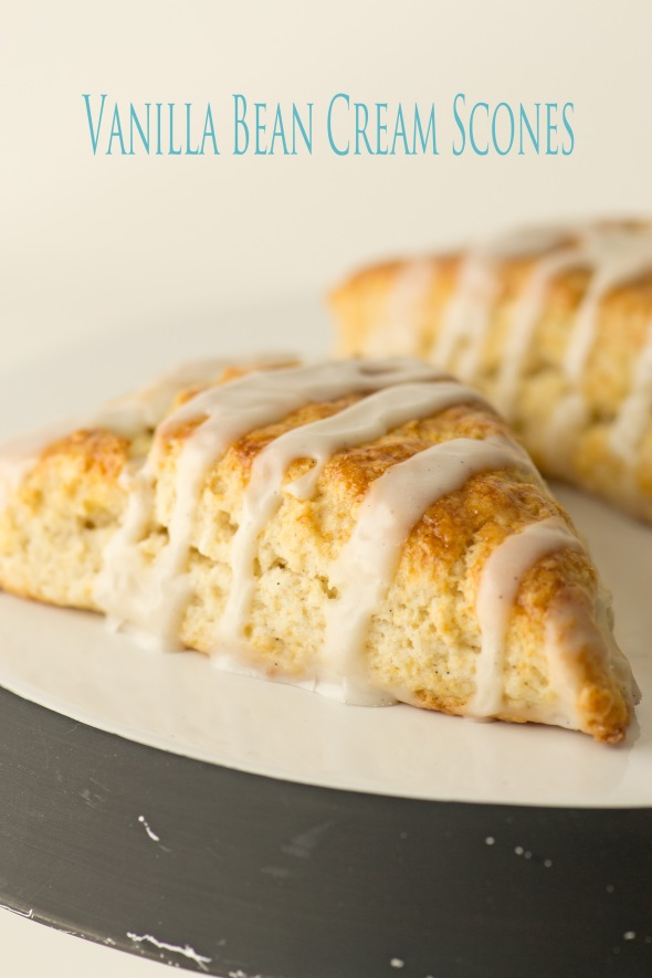 Vanilla Bean & Cream Glazed Scones