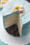 Lemon Vanilla Speckled Easter EggCake