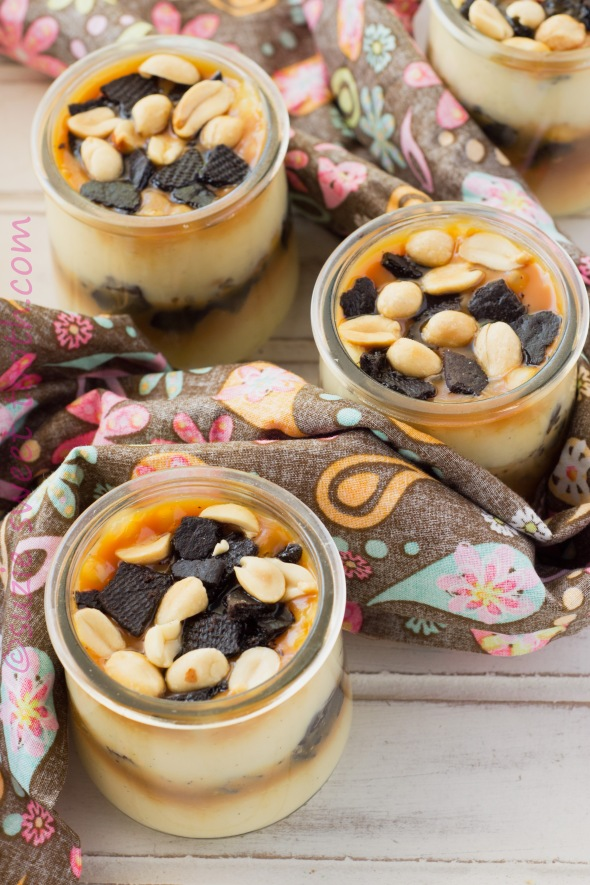 Vanilla Pudding Parfaits With Salted Caramel Cookie Crumbles Peanuts Suzie Sweet Tooth