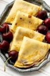 Cherry Jam and Sweet Cream CheeseCrepes