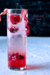 rhubarb cherry hibiscus ginfizz